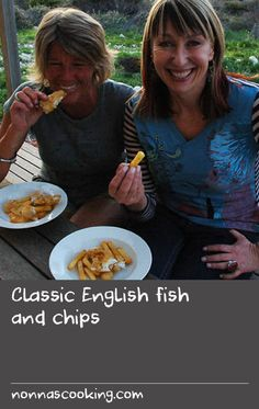 Classic English fish and chips | The beer batter in this recipe gives a beautifully crisp coating that not only helps steam the fish, it also keeps it moist during frying. Make sure you buy firm, thick, white fish fillets such as flathead. The secret of the best chips is in the double cooking! It's also a good idea to use a variety of potato that has a low water content.