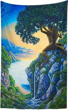 Shop for all art - Mark Henson Artwork Black Love Art, Illusion Art, Tantra, Visionary Art, Nature Prints, Psychedelic Art, Tree Art, Tree Of Life Artwork, Surreal Art