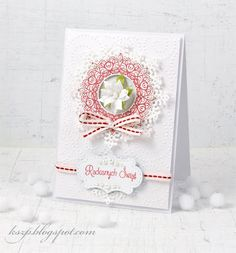 From our Design Team! Card by Klaudia Kszp featuring these Dies - Heart Snowflakes, Ornate Snowflakes Die, Stitched Elements  :-)  Shop for our products here - shop.lalalandcrafts.com  More Design Team inspiration here - http://lalalandcrafts.blogspot.ie/2014/12/inspiration-wednesday-white-on-white.html