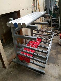 Metal Projects, Welding Projects, Steel Storage Rack, Bar Rack, Garage Storage, Interiores Design, Workshop, Tools, Inspiration