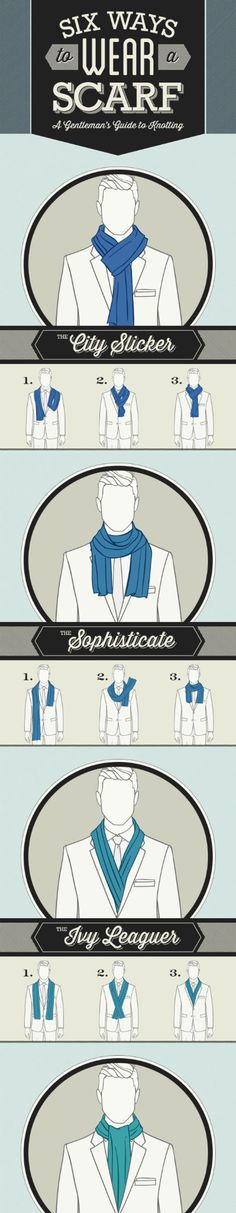 Six ways to wear a scarf…