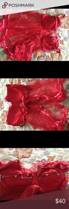 Victoria's Secret Lingerie Victoria's Secret Lingerie size 36D... jingle bells attached to top. Never worn, very cute! Victoria's Secret Intimates & Sleepwear Pajamas