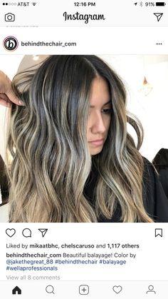 Balayage Ombré, Brown Hair Balayage, Brown Blonde Hair, Hair Color Balayage, Brunette Hair, Ombre Hair, Highlights For Dark Brown Hair, Honey Brown Hair, Hair Highlights