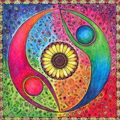 17 best images about yin yang on mandala Mandala Art, Mandalas Drawing, Mundo Hippie, Yin Yang, Fractal Art, Sacred Geometry, Painted Rocks, Abstract Art, Artsy