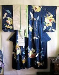 Kimono displayed on wall