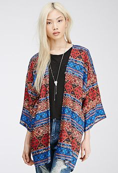 Can I please just buy forever 21.... ? Abstract Tile Print Kimono | FOREVER21 - 2000135528