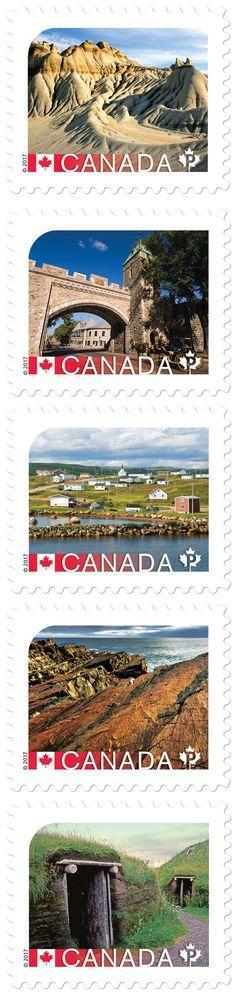 #Des sites du patrimoine mondial de l'UNESCO ornent cinq timbres - CNW Telbec (Communiqué de presse): Des sites du patrimoine mondial de…