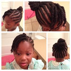 Cornrows Braids Extensions: Cornrows and twists Lil Black Girl Hairstyles, Natural Hairstyles For Kids, Childrens Hairstyles, Natural Hair Styles, Kid Hairstyles, Curly Hair Styles, Cute Cornrows, Cornrows For Girls, Girls Braids
