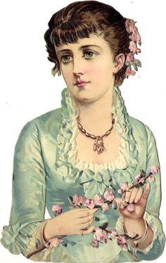 Glanzbilder - Victorian Die Cut - Victorian Scrap - Tube Victorienne - Glansbilleder - Plaatjes .