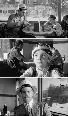 5. PAPER MOON - Moses (Ryan O'Neal) et Addie (Tatum O'Neal) dans un diner.  http://cabougeassez.wordpress.com/2014/07/19/71-cycle-road-movie-%E2%80%A2-paper-moon-la-barbe-a-papa-%E2%80%A2-st-restitut-2872014/