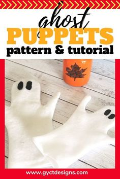 Step by step tutorial and video on how to make your own felt ghost puppets for Halloween and fall puppet shows. Great for toddlers, preschool and school age children. Halloween Sewing Projects, Halloween Crafts For Kids, Diy Halloween Decorations, Halloween Fun, Kid Crafts, Sewing Crafts, Fall Sewing, Sewing For Kids, Puppet Tutorial