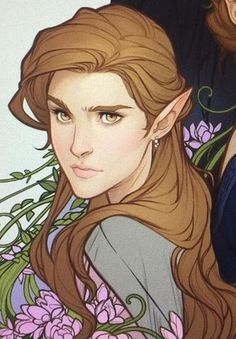 Elain Archeron by Charlie Bowater A Court Of Wings And Ruin, A Court Of Mist And Fury, Book Characters, Fantasy Characters, Roses Book, Elf Art, Sarah J Maas Books, Fantasy Portraits, Throne Of Glass Series