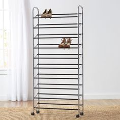 Portable Space Saving 10 Tier Chrome Finish Shoe Rack End of Year Clearance Sale