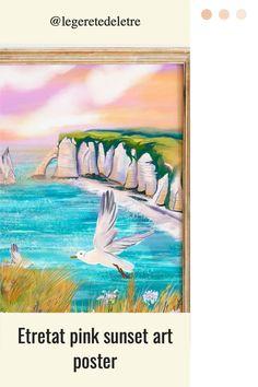 Etretat wall art #etretat #normandie #normandywallart #oceanart #seagulls #oceanposter #wallposter #walldecor #artwork