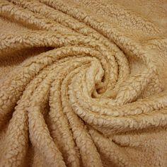 Stoff Teddy Plüsch caramel reine Baumwolle Kamel  von Werthers Stoffe auf DaWanda.com