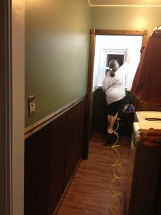 Bathroom renovation is underway, this is through the renovated laundry room.