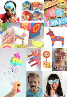 Cinco de Mayo party printables and craft tutorials by Happythought http://printablepaperproducts.com/festival/cinco-de-mayo-printables