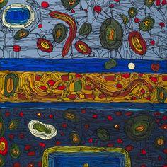 FIESTA EN LA PLAYA Autor: Antonio Ibarra Tamaño: 30 x 30 cm Año: 2013 Técnica: Acrílico y tinta sobre lienzo