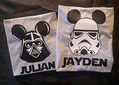 Star Wars themed Disney World Family Shirts: by OnceUponATeeShop