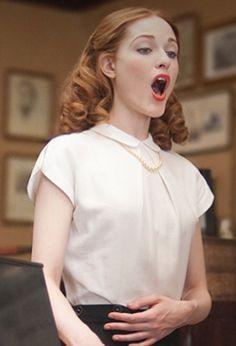 Evan Rachel Wood as Vida Pierce in HBO mini series Mildred Pierce. Her acting ability and range is magnetic. Simply love.