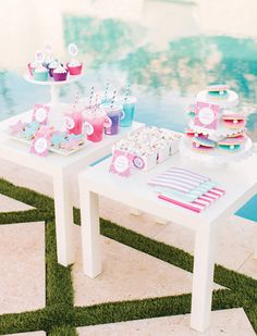 Pearl Princess Barbie Pool Party {Movie Inspired} // Hostess with the Mostess® Barbie Birthday Party, Girl Birthday Themes, Barbie Party, Kids Party Themes, 6th Birthday Parties, Birthday Ideas, Party Ideas, 8th Birthday, Gift Ideas