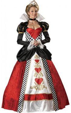 Disfraz de reina de corazones supreme para mujer