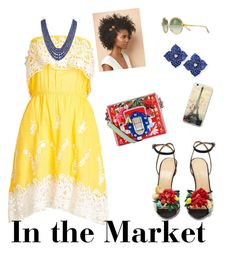 In the market by vrbweb on Polyvore featuring polyvore, fashion, style, Christophe Sauvat, Charlotte Olympia, Dolce&Gabbana, Piranesi, Tory Burch and clothing