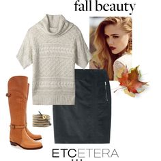 Etcetera | Holiday 2015: SPECKLED sweater with PEWTER corduroy skirt. www.etcetera.com