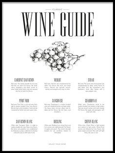 Wine guide, plakat i gruppen Plakater / Størrelser / 50x70cm hos Desenio AB (8228)
