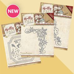 Found it at Blitsy - NEW! Yvonne Creations Holly Jolly Die Sets