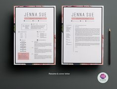 Floral resume package by Chic templates on @creativemarket