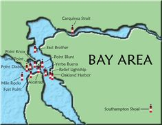 Bay Area Map of lighthouses
