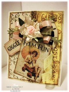 Vintage Film Fun card with view finder piece.