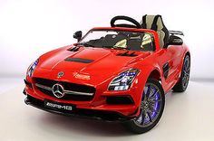 Mercedes SLS 12V Kids Ride-On Car MP4 Color LCD Battery Powered Wheels RC Remote