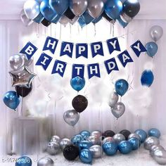 Gifts & Mugs Pixelfox Happy Birthday Banner-BLUE + 1pcs Silver Star (10inch) + 30pcs Black, Silver, Blue Balloons Combo + Free Mask Pixelfox Happy Birthday Banner-BLUE + 1pcs Silver Star (10inch) + 30pcs Black, Silver, Blue Balloons Combo + Free Mask Sizes Available: Free Size   Catalog Rating: ★4 (665)  Catalog Name: Check out this trending catalog CatalogID_3347583 C127-SC1268 Code: 352-16741506-705