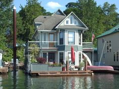 two story houseboat.....love it