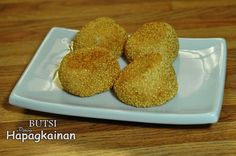 Deep fried sesame seed balls, made of glutinous rice flour, filled with sweetened mung bean.  Directions :  	In a deep sauce pan, cook the mung beans with w