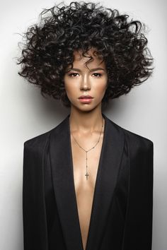 Combining two of the season's most coveted trends, the Dagger Cross Pendant is a modern Long Hair Cuts, Short Curly Hair, Curly Bob, Curly Hair Styles, Natural Hair Styles, Short Cuts, Black Ponytail Hairstyles, Braided Ponytail, Straight Hairstyles