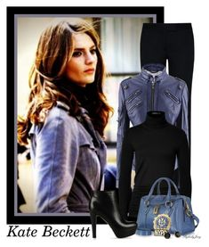 """Detective Kate Beckett"" by stylesbyjoey ❤ liked on Polyvore featuring STELLA McCARTNEY, Donna Karan, Marc Jacobs, Sergio Rossi, POLICE, Kate Spade, booties, TV, leatherjackets and turtleneck"