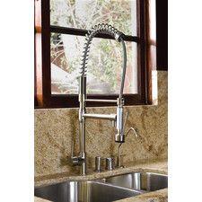 Kingston Brass Concord Single Handle Pull-Down Kitchen Faucet Pull Out Faucet, Pull Out Kitchen Faucet, Kitchen Taps, Kitchen Handles, Best Faucet, Faucet Handles, Kingston Brass, Industrial Chic, Home Improvement