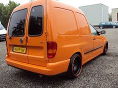 VW Caddy with banded steelies