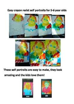 An easy self portrait lesson for your new entrant class and first graders. If you have the time to put in the preparation they will love the results!!All you need is a camera, access to a computer, photocopier and some simple art products and you are off!