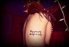 """Bob Dylan, """"Forever Young""""   22 Cool Song Lyric Tattoos"""