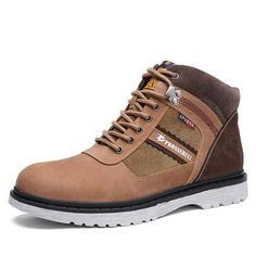 High-quality Men Cow Leather High Top Plush Lining Casual Boots - NewChic Mobile