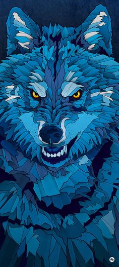 """""""Blue Wolf"""" illustration was the image for the Hurricane/Southside Festival, held in Germany last year. Cartoon Drawings Of People, Drawing People, Animal Drawings, Drawings Of Wolves, Wolves Art, Wolf Illustration, Wolf Wallpaper, Wallpaper Backgrounds, Wallpapers"""