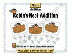 Fun Free seasonal math activity for basic addition facts