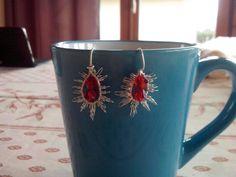 Starburst earrings from Nicole Hannah tutorial
