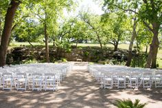 Ceremony set-up at Tenroc Ranch in Salado, Texas (http://www.7centerpieces.com/galleries/rustic-salado-wedding-by-shelly-taylor-photography/)   Shelly Taylor Photography (http://www.shellytaylorphotography.net/)