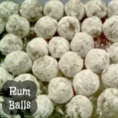 Rum Balls These Rum Balls are pretty much a tradition for my family and something that mom always makes around Christmas time. I personally have never had them, but the whole family will testify that they are amazing. :) ENJOY! Ingredients: 1 and 1/2 c powdered sugar 2 tbsp cocoa powder 1/2 tsp ground allspice 1/2 c dark rum …