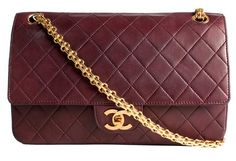 Chanel Burgundy Vintage 2.55 Flap Bag